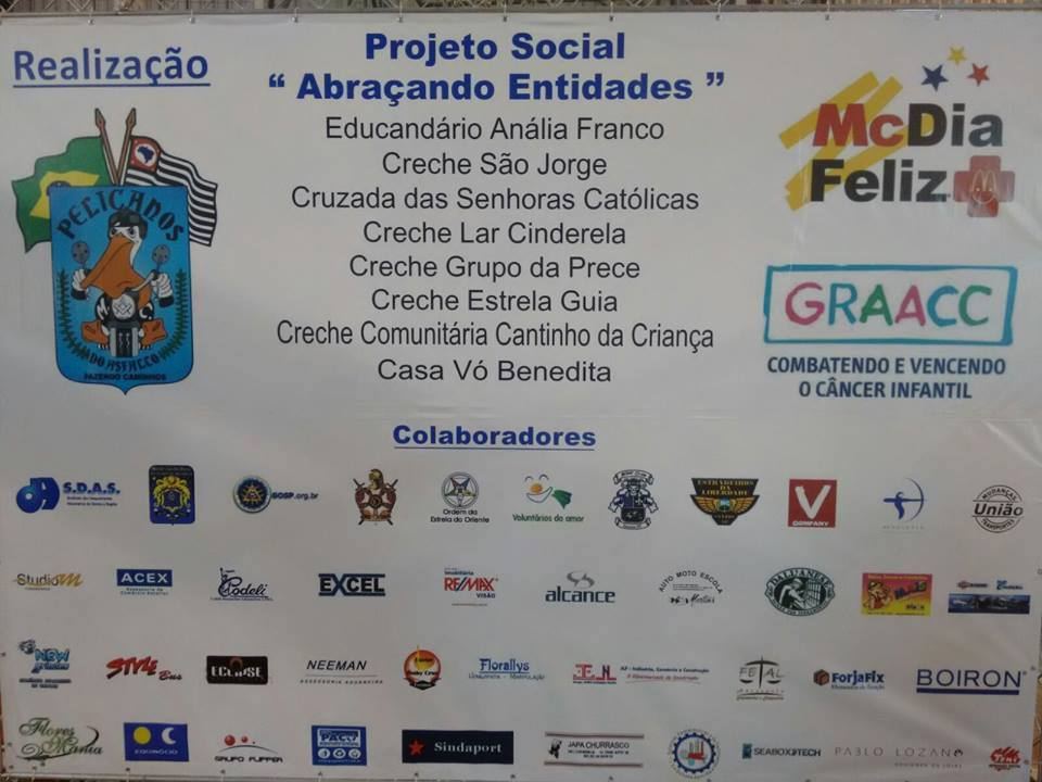 2015 Campanha GRAACC - Moto Clube Estradeiros da Liberdade 4afbef02e7b80